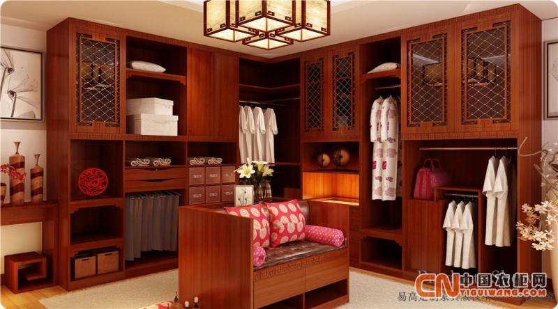 欧式 实木衣柜—易高定制家具