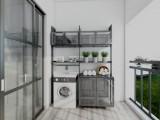 阳台柜家具订制图片,阳台洗衣柜图片,雷诺帝娅阳台柜效果图