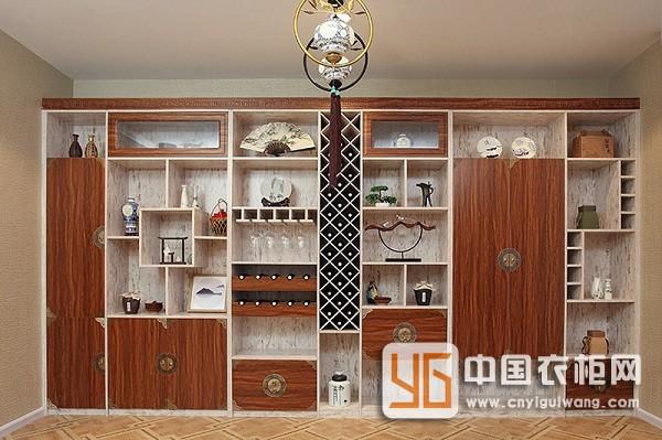 新中式风格岭南系列酒柜