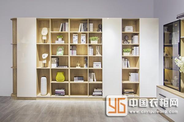 木系朋克系列移门式书柜1