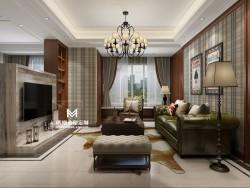 玛格全屋定制110m²美式轻奢空间 命中住定爱上你!