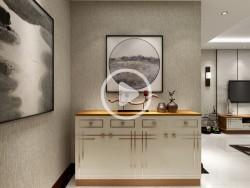 艾瑞卡全屋定制清新典雅淡淡的新中式风装修效果图