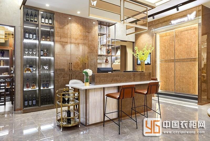 顶固定制衣柜意式轻奢风格家居装修效果图