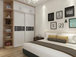 蓝乔全屋定制卧房整体装修效果图,卧室装修图
