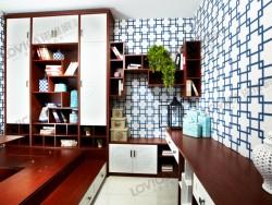 诺维家全屋定制新中式风格装修效果图,新中式衣柜装修