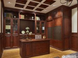 欧邦全屋定制中式装修效果图,书房中式装修