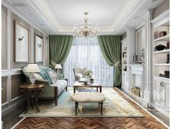 玛格全屋定制美式客厅开放式书柜