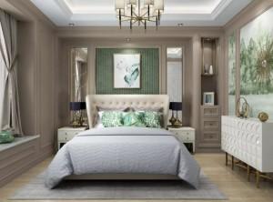 玛格全屋定制三室两厅120m²现代美式效果图