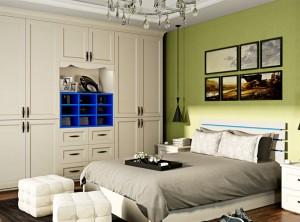 雪宝全屋定制现代简约风格效果图,卧室简约风装修图片