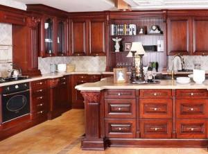 佰丽爱家实木橱柜美式风格厨房装修效果图