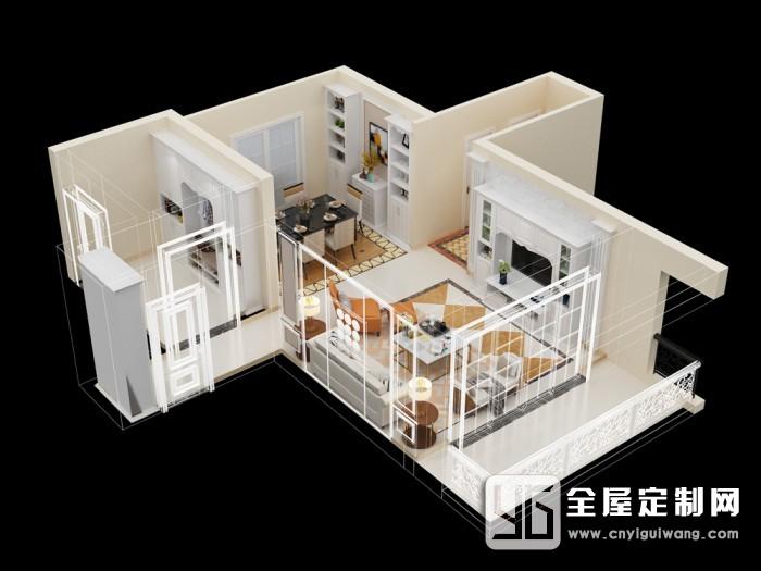 德维尔爱唯尔系列欧式风格客餐厅装修效果图