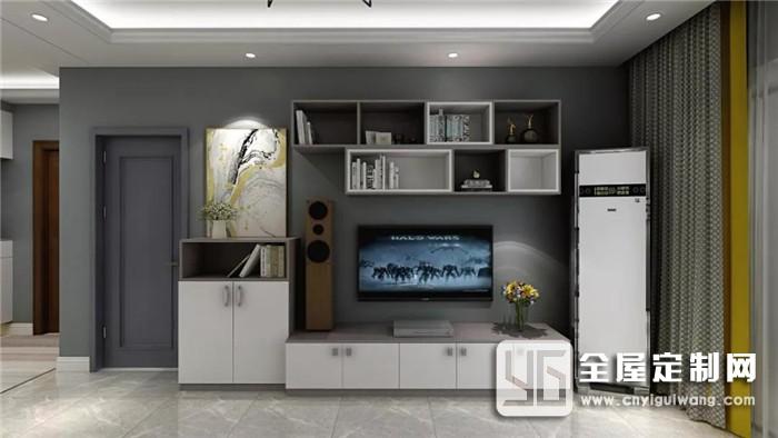 电视机挂墙上和放电视柜上区别在哪里?让帅太全屋定制来揭晓谜底!