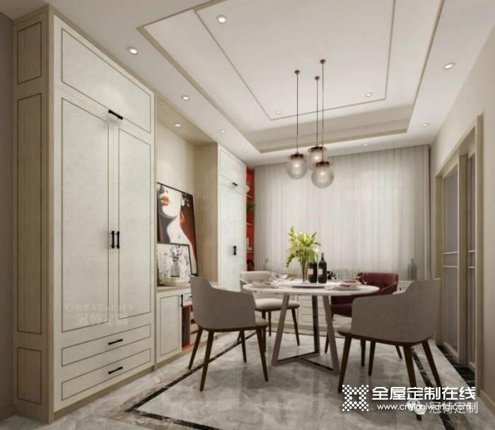 冠特定制家具160㎡三室两厅现代时尚装修效果图