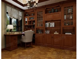 雅丽家全屋定制莫兰迪卡系列转角书柜