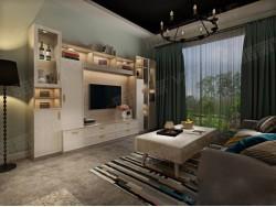 雅丽家全屋定制诺尔辰角系列 电视厅柜