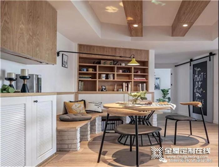 佰丽爱家全屋定制的北欧风三居室,清新舒适又有观赏性!