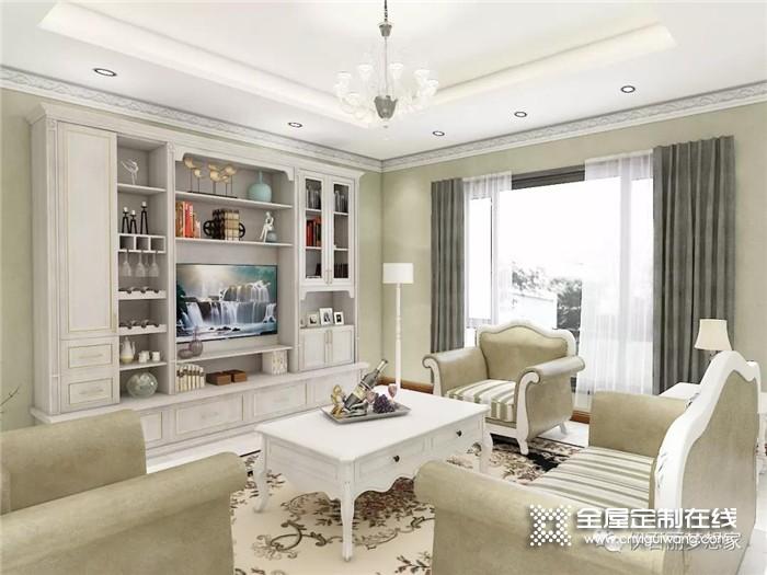 伊百丽全屋定制的电视柜设计,客人赖在客厅不愿走了!