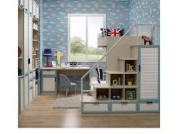 皮阿诺全屋定制儿童房组合衣柜