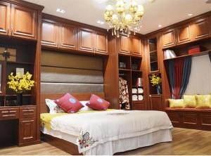澳都卧室床头柜卧室衣柜装修效果图