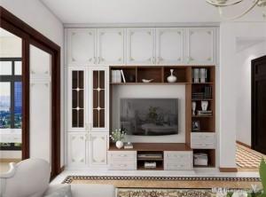 德维尔全屋定制美式风格客餐厅装修效果图