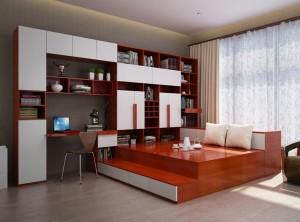依利亚全屋定制中国红风格装修图,中式风格效果图