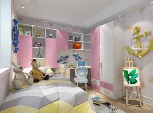 怡萧行全屋定制现代粉色儿童房装修效果图