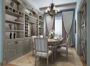 百特斯全屋定制110m²三室两厅美式家装效果图