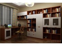 欧迪雅全屋定制现代简中式书柜