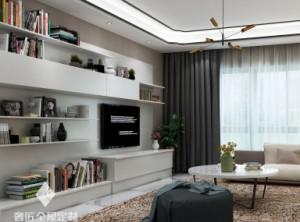 奢匠全屋定制客厅电视柜装修图片