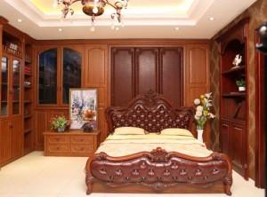 普思顿全屋定制古典风格卧室实木装修效果图