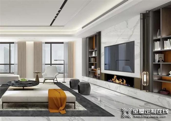 梵帝尼带来客厅柜设计案例,干净整洁又时尚!