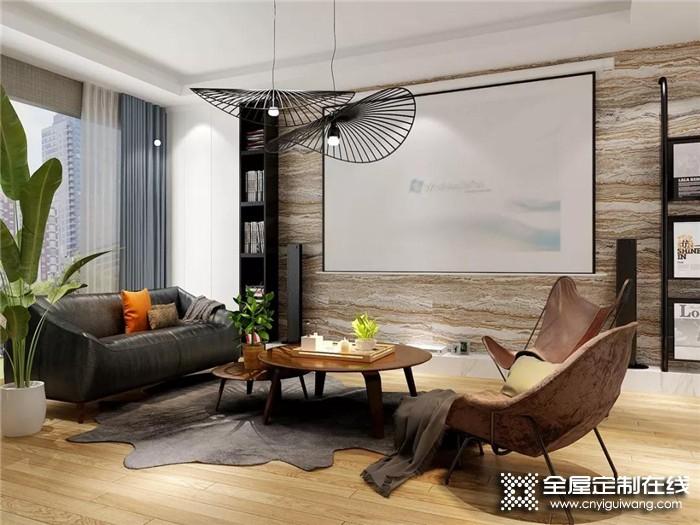 没有电视机的客厅该如何设计?先一睹欧派全屋定制的风采