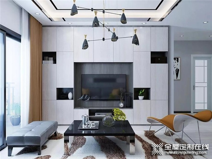 德维尔电视柜案例,打造一个优雅大气的客厅!