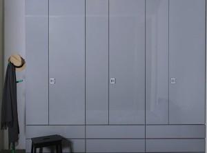 沃根8090衣柜灰色空间系列衣柜效果图