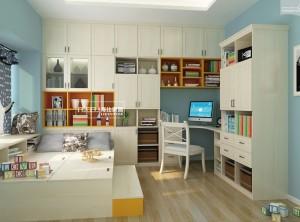 海比家居全屋定制儿童房效果图