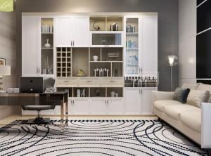 海比家居全屋定制不同风格的书房装修效果图