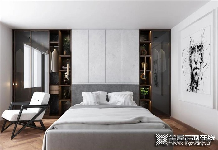合适的整体定制衣柜,不仅能提升卧室颜值,还很实用,佰丽爱家带给您!
