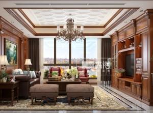 森诺全屋定制美式客厅装修效果图