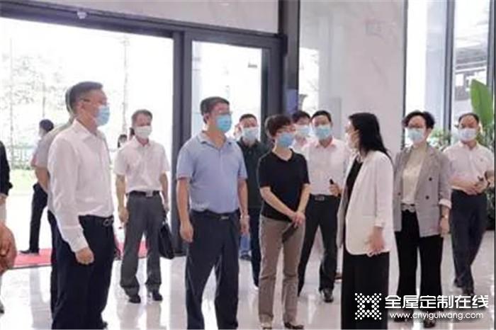 广州市委、番禺区区委领导亲临诗尼曼总部调研