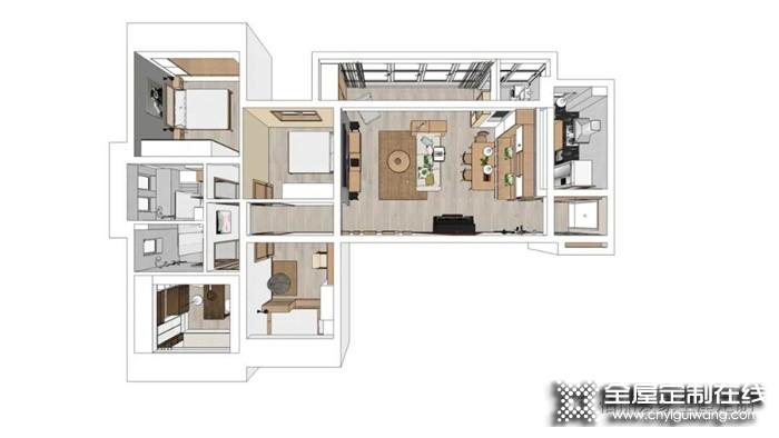 佰丽爱家北欧风装修案例,140㎡北欧风3居室,粉嫩清透的女儿房好看又实用!!