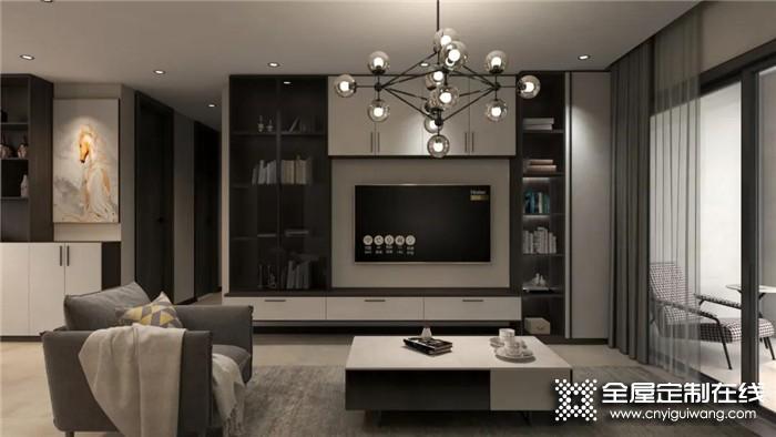 电视背景墙跟着卡诺亚这样设计,客厅瞬间就变的高级了