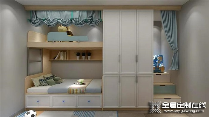 帅太全屋定制分享的31张儿童房装修设计效果图,看完就知道怎么装了!