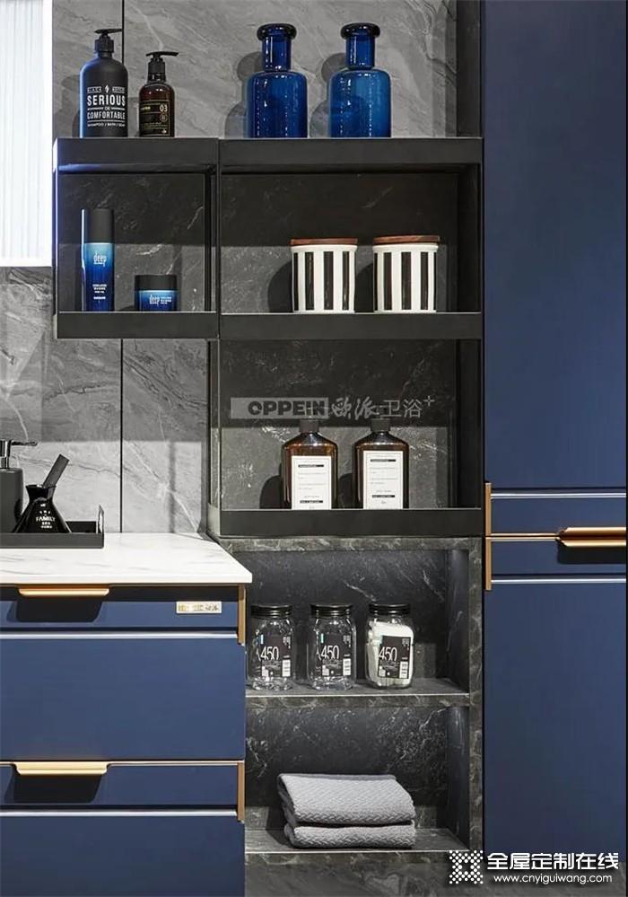 欧派浴室柜新品,来自洱海的灵感注入,成就空间优雅高级!