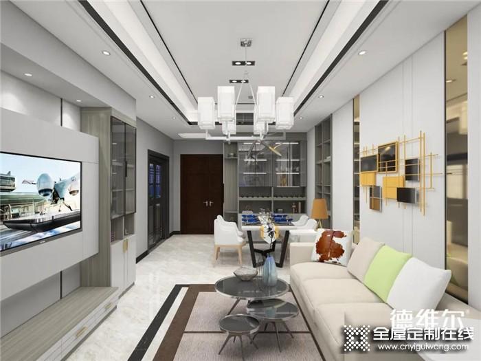 德维尔设计的119㎡轻奢三房,满满的豪宅范