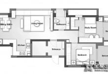 看佰丽爱家设计的84平米现代风2居室小户型,收纳好又显大! (2121播放)