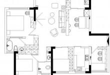 帅太分享的这套107㎡简约北欧风设计,简直是女孩子的梦想住所!