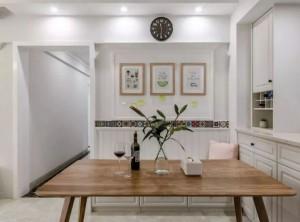 金汉良木全屋定制现代简约风格家装案例,客餐厅一体化