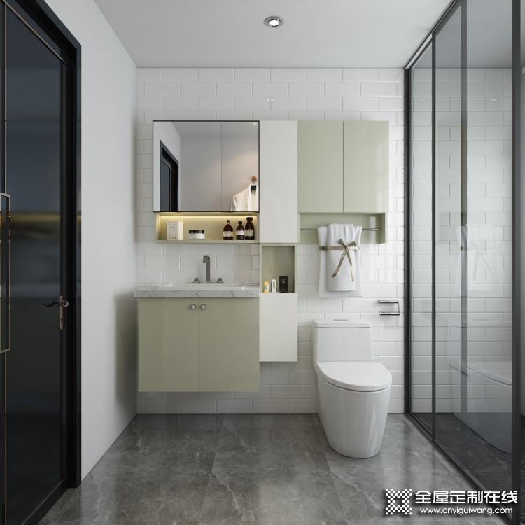 万格丽不锈钢浴室柜装修效果图