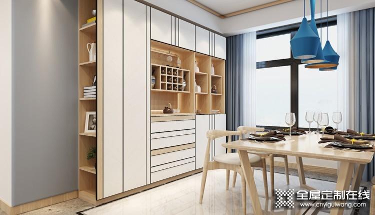 伊百丽全屋定制唐风汉韵系列,新中式风格三室两厅效果图