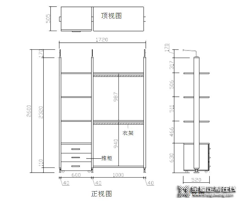直型柜、顶柜、转角柜——衣柜产品结构知识分享_5